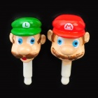 Cute Super Mario Brothers Style Anti-Dust Plug for 3.5mm Audio Jack - Red + Green (Pair)