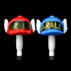 Doctor Slump Arale Chan Style Anti-Dust Plug for 3.5mm Audio Jack - Red + Blue (Pair)