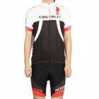 2012 Castelli Team Short Sleeve Cycling Bicycle Bike Riding Suit Jersey + Short Set (Size-L)