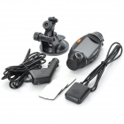 "Car DVR Camcorder with Double Cameras / GPS Module / TF Slot - Black (2.7"")"