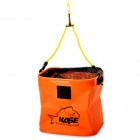 KASE Portable Folding Water Well Draw Bucket Pail - Orange