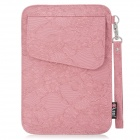 "Decorative Pattern Protective PU Leather Case Bag for Samsung P1000 / 7"" Tablet PC - Pink"