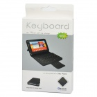 Protective PU Leather Case with Bluetooth V3.0 82-Key Keyboard for Samsung Galaxy P6200 - Black