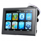 "7"" TFT LCD Touch Screen WinCE 6.0 GPS Navigator w/ Bluetooth / FM / 4GB Europe Maps TF Card - Black"