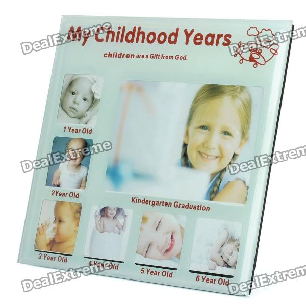 Childhood Memories My Childhood Years Photo Frame - 1~6 Years Old (Light Green)