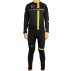 2011 Livestrong Team Long Sleeve Cycling Bicycle Bike Riding Suit Jersey + Bib Pants Set (Size-XL)