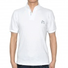 Fashion Short Sleeve Cotton T-Shirt - White (Size XXL)