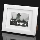 "Stylish Wooden Dual Layer Photo Frame for 7"" / 5"" Photo - White"