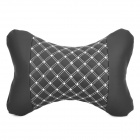 Stylish Vehicle Car Seat Head Neck Rest Cushion Pillow - Black + White (Pair)