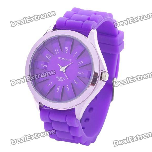 Fashion Silicone Band Quartz Wrist Watch - Purple (1 x LR626) умный браслет teslawatch t band purple