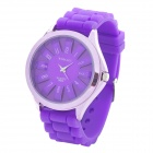 Fashion Silicone Band Quartz Wrist Watch - Purple (1 x LR626)