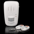 Wireless IR Remote Control Security Burglar Alarm for Home / Office - White (4 x AA)