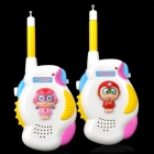 Cute Cartoon Happy Superman Style Walkie Talkie - White + Yellow (3 x AA / Pair)