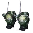 Watch Style Walkie Talkie w/ Time/Magnifier/Illuminating Light/Compass/Safe-Drop Capsules/Speculum