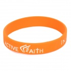 "Fashion Jeremy Lin Style ""in Jesus Name I Play"" Silicone Energy Bands Bracelet - Orange"