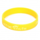 "Fashion Jeremy Lin Style ""in Jesus Name I Play"" Silicone Energy Bands Bracelet - Yellow"