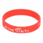 "Fashion Jeremy Lin Style ""in Jesus Name I Play"" Silicone Energy Bands Bracelet - Red"