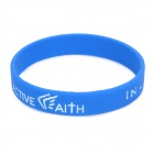 "Jeremy Lin Fashion Style ""in Jesu Namen I Play"" Silikon-Armband Energie Bands - Blue"