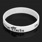 "Jeremy Lin Fashion Style ""in Jesu Namen I Play"" Silikon-Energie-Bands Armband - Weiss"