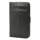 Protective PU Leather Flip Cover Plastic Case for Samsung Galaxy Note i9220 N7000 / i9228 - Black