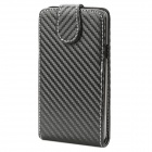 Protective PU Leather Cover Plastic Case for Samsung I9100 / I9188 / I9108 - Black