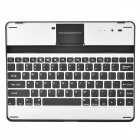 USB Rechargeable Wireless Bluetooth 82-Key Keyboard Aluminum Alloy Case for   New Ipad