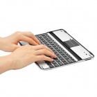 USB Rechargeable Wireless Bluetooth 82-Key Keyboard Aluminum Alloy Case for Apple New iPad