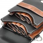 Professional Hairdressing Tools Pouch Waist Bag for Barber - Black + Brown