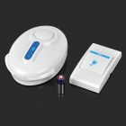 38-Melody Wireless Doorbell Transmitter / Receiver Set - White (1 x 23A 12V / 2 x AA)