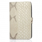 Protective Fish-Scale Pattern PU Leather Case for Samsung i9220 - Grey White