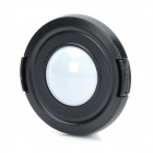 55mm Camera White Balance Lens Cap Cover - Black + White