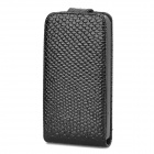 Protective Fish Scale Style PU Leather Case for Iphone 4 / 4S - Black