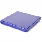 Portable USB 2.0 Slim External Drive Case - Blue