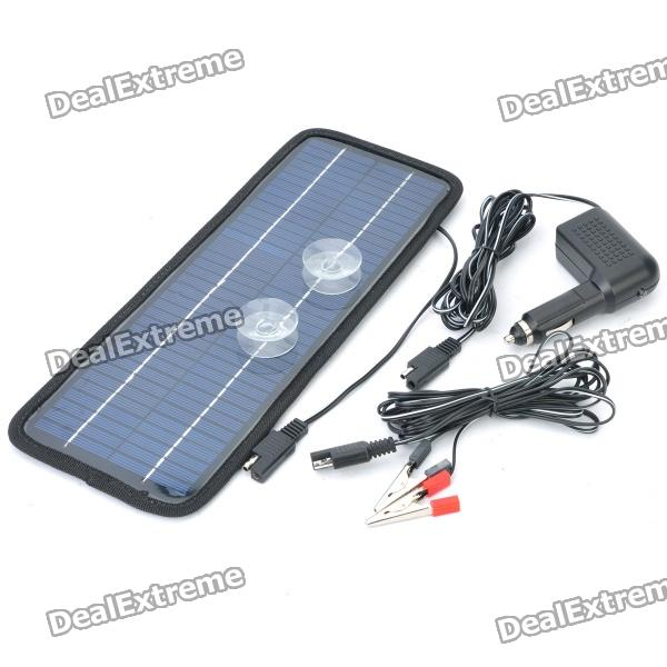 24v 4 5w Solar Power Panel Auto Car Battery Charger Free