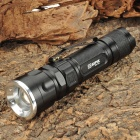 Adjustable Focus Zoom Cree XML 3-Mode 600LM White LED Waterproof Flashlight - Black (3xAAA)