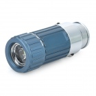 Car Cigarette Lighter Socket Rechargeable 0.5W 30-Lumen Mini LED Flashlight - Royal Blue (DC 12V)