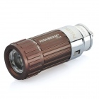 Car Cigarette Lighter Socket Rechargeable 0.5W 30-Lumen Mini LED Flashlight - Coffee (DC 12V)