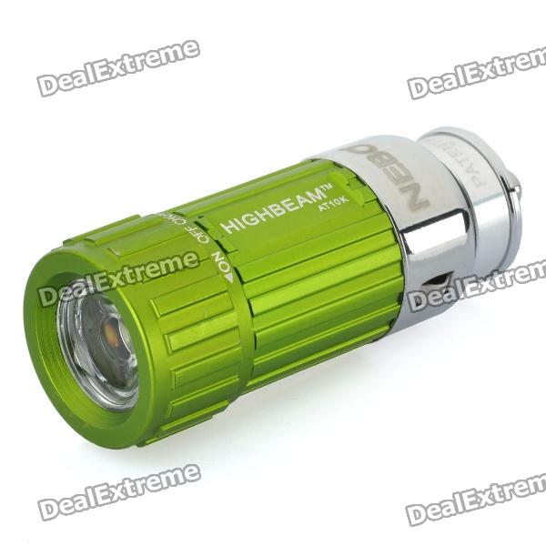 Car Cigarette Lighter Socket Rechargeable 0.5W 30-Lumen Mini LED Flashlight - Green (DC 12V)