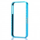 Protective Bumper Frame with Crystal for iPhone 4 / 4S - Blue