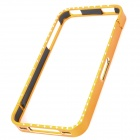 Protective Bumper Frame with Crystal for iPhone 4 / 4S - Golden