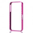 Protective Bumper Frame with Crystal for iPhone 4 / 4S - Deep Pink