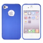 Protective Metal Back Case for iPhone 4 / 4S - Blue