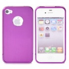 Protective Back Case Cover for iPhone 4 / 4S - Purple