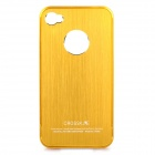 Protective Metal Back Case for iPhone 4 / 4S - Golden