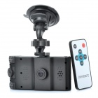 "Double-lens 2.7"" TFT LCD 3.0MP CMOS Car DVR Camcorder w/ IR Night Vision / Mini USB / AV-OUT /DC /SD"