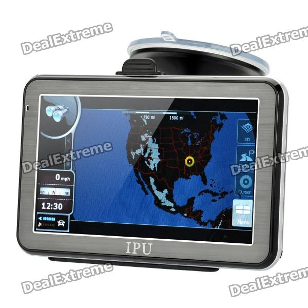 5 Resistive Touch Screen Win CE 5.0 GPS Navigator w/ Bluetooth / FM Transmitter / 4GB USA Map TF win max