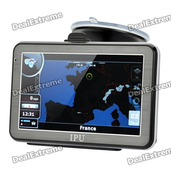 5 Resistive Touch Screen Win CE 5.0 GPS Navigator w/ Bluetooth / FM Transmitter / 4GB Europe Map TF win max