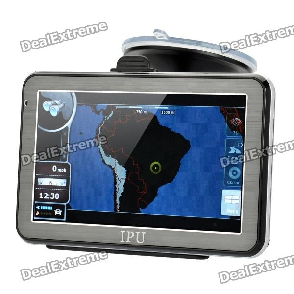 5 Resistive Touch Screen Win CE 5.0 GPS Navigator w/ Bluetooth / FM Transmitter / 4GB Brazil Map TF win max