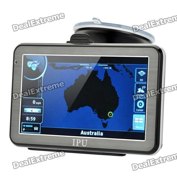5 Resistive Touch Screen Win CE 5.0 GPS Navigator w/ Bluetooth / 4GB Australia Map TF 5 resistive touch screen win ce 5 0 gps navigator w bluetooth fm transmitter 4gb brazil map tf