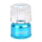 45LM White LED Light Mini Tent Lantern Camping Lamp - Blue + Transparent (2 x CR2032)